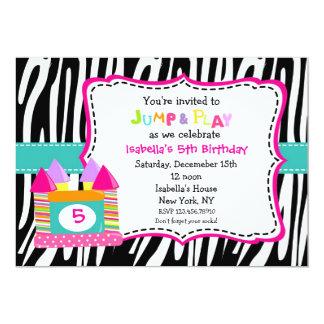 Bounce House Castle Birthday Invitations