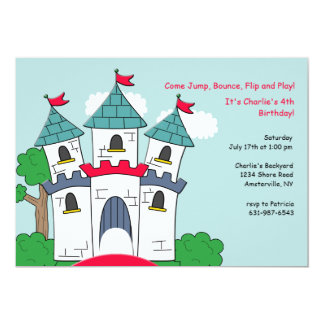 Bounce House Castle Invitation