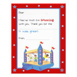 Bounce House Fill-in-the-Blank Thank You Card Custom Announcement