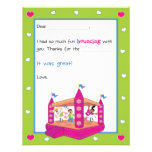 Bounce House Fill-in-the-Blank Thank You Cards Custom Invitations