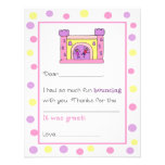 Bounce House Fill-in-the-Blank Thank You Cards Personalized Announcement