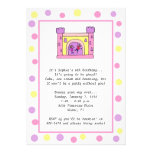 Bounce House Invitations: Girly Colours