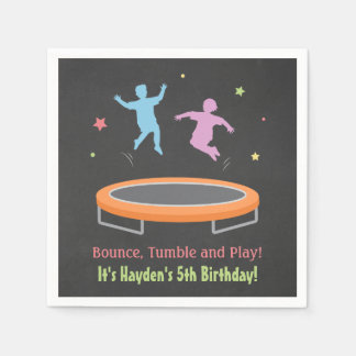 Bounce Trampoline Kids Birthday Party Napkins Disposable Serviettes