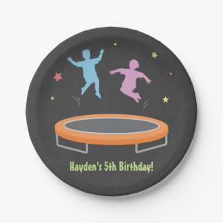 Bounce Trampoline Kids Birthday Party Supplies 7 Inch Paper Plate