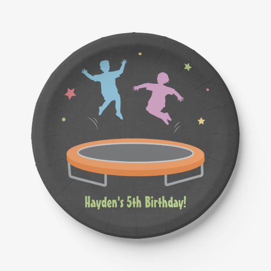 Bounce Trampoline Kids Birthday Party Supplies 7 Inch