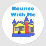 Bounce With Me Moonwalk Round Sticker
