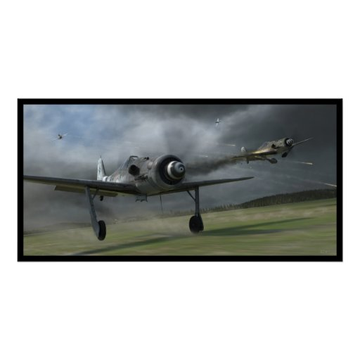 Bounced! Fw190 D Poster