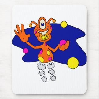 Bouncing Alien Clown Mouse Pad