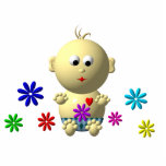 BOUNCING BABY BOY WITH 7 FLOWERS