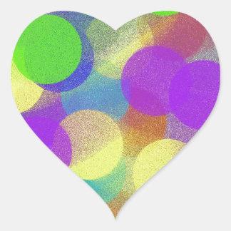 Bouncing Balls Heart Sticker