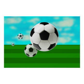 Bouncing Balls soccer ball fans football world cup Poster