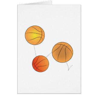 Bouncing Basketballs Greeting Card