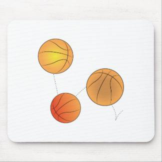 Bouncing Basketballs Mouse Pad