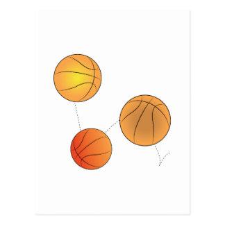 Bouncing Basketballs Post Card