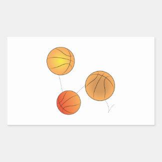 Bouncing Basketballs Stickers