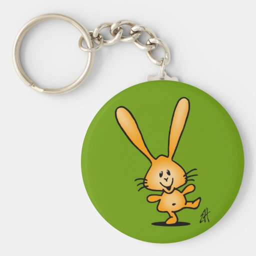 Bouncing Bunny Key Chain