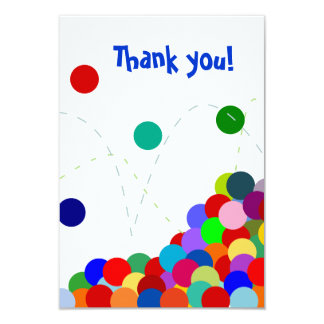 Bouncing Party Thank You Note Flat 9 Cm X 13 Cm Invitation Card