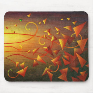 Bouncing Triangles in the Warm Sun Mouse Pad