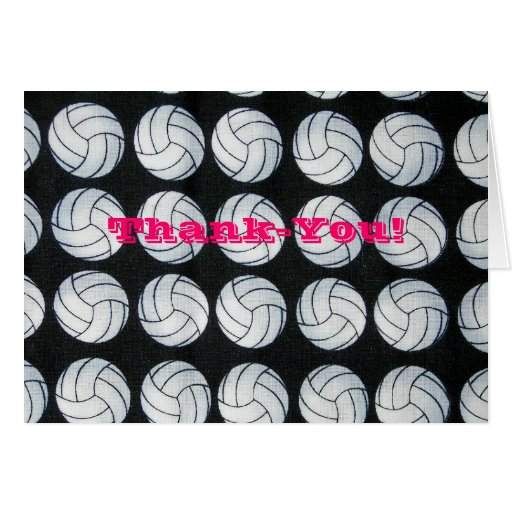 Bouncing Volleyballs Thank-you Notecards Greeting Card