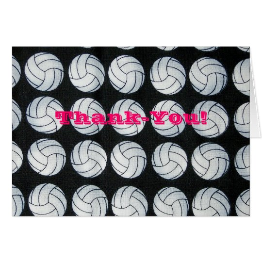 Bouncing Volleyballs Thank-you Notecards Card
