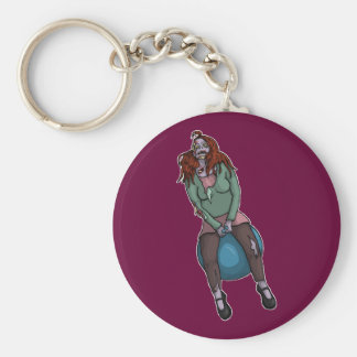 Bouncing Zombie 2, keychain Basic Round Button Keychain