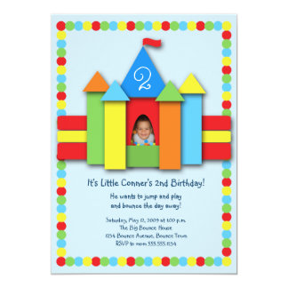 Bouncy Bithday Invitation