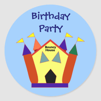 Bouncy Castle Birthday Party Stickers