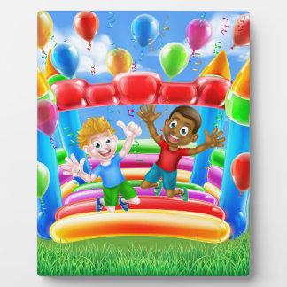 Bouncy Castle Fun Photo Plaque