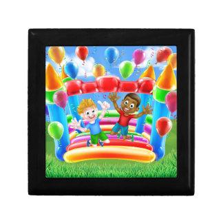 Bouncy Castle Fun Small Square Gift Box