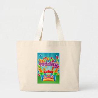 Bouncy Castle Funday Design Large Tote Bag
