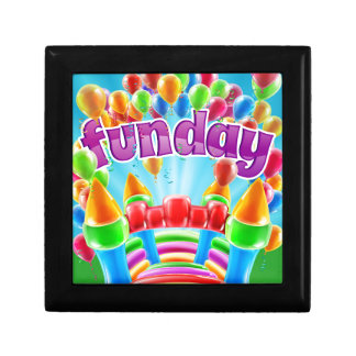 Bouncy Castle Funday Design Small Square Gift Box