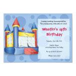 Bouncy Fun - for Boys! 13 Cm X 18 Cm Invitation Card