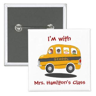 Bouncy School Bus Identification Button