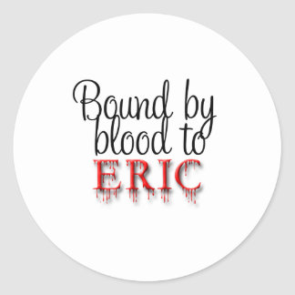 bound by blood round sticker