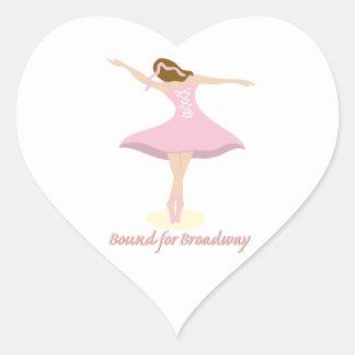 Bound For Broadway Heart Sticker