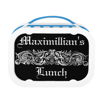Bound Monsters White Text Lunch Box