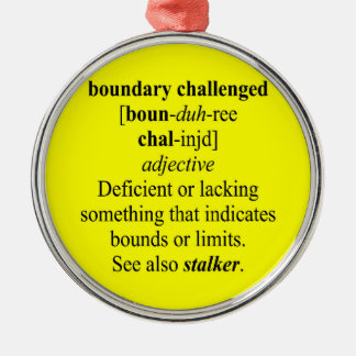 BOUNDARY CHALLENGED CHRISTMAS ORNAMENTS