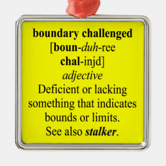 BOUNDARY CHALLENGED CHRISTMAS TREE ORNAMENT