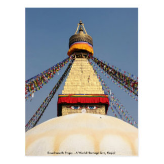Boundhanath Stupa - A World Heritage site in Nepal Postcard