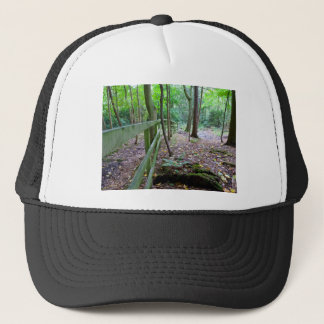 Boundry to the woods trucker hat