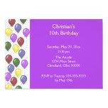 Bountiful Balloons Invitation (Purple)