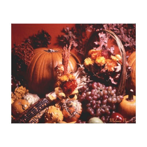 Bountiful Blessings Fall Scene Stretched Canvas Prints