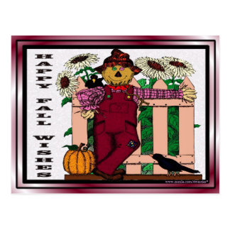 Bountiful Harvest of Blessings & Happy Fall Wishes Postcard