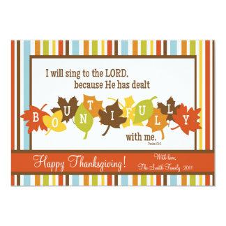"BOUNTIFUL Scripture Thanksgiving Card-Customize It 5"" X 7"" Invitation Card"