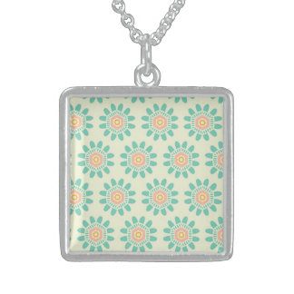 Bounty Hearty Flourishing Graceful Square Pendant Necklace