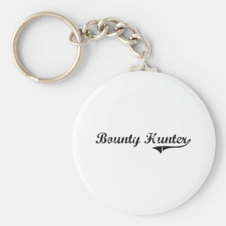 Bounty Hunter Professional Job Basic Round Button Key Ring