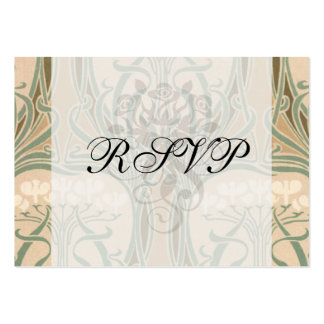 bounty of the earth art nouveau design pack of chubby business cards