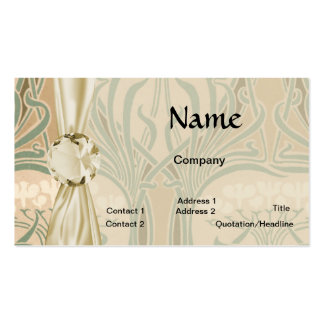 bounty of the earth art nouveau design pack of standard business cards