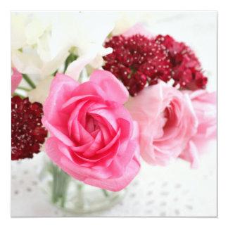 Bouquet 13 Cm X 13 Cm Square Invitation Card