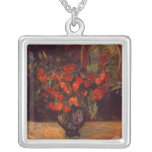 Bouquet, 1884 square pendant necklace
